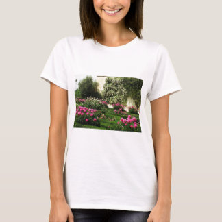 Pink and White Rose Garden T-Shirt