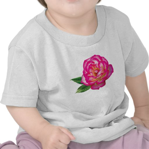 Pink and White Rose Infants Shirt