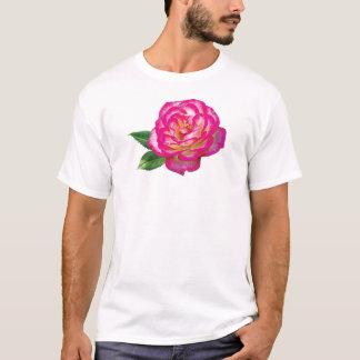 Pink and White Rose Mens T-Shirt