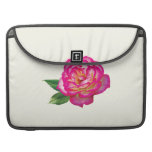 Pink and White Rose Sleeve For MacBook Pro
