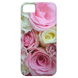 Pink and white roses bouquet iphone case