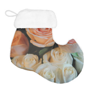 Pink and White Roses Elf Christmas Stocking