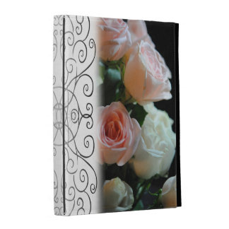 Pink and White Roses in The Light Ipad Folio Case