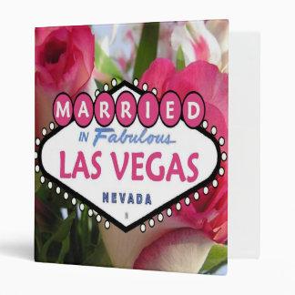 Pink and White Roses Married in Las Vegas Wedding  Binder