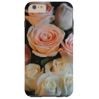 Pink and White Roses Tough iPhone 6 Plus Case