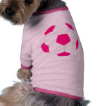 Pink and White Soccer Ball Pet Clothing