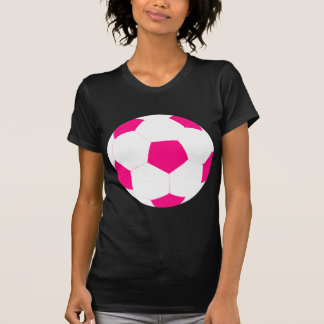 Pink and White Soccer Ball T-Shirt