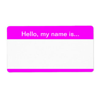 Pink and White Speed Dating Name Tag