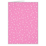 Pink and White Spotted Pattern. Greeting Cards