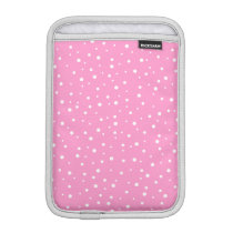 Pink and White Spotted Pattern. Sleeve For iPad Mini