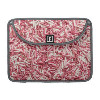 Pink and white sprinkles sleeves for MacBooks