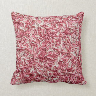 Pink and white sprinkles pillow
