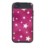 Pink and White Stars iPhone 4/4S Cases