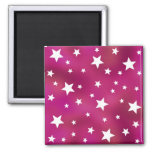 Pink and White Stars Magnets