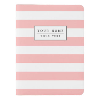 Pink and White Stripe Pattern Extra Large Moleskine Notebook