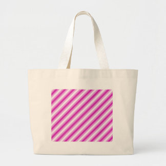 Pink and White striped Bag