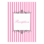 Pink and White Striped Enclosure Card Business Cards