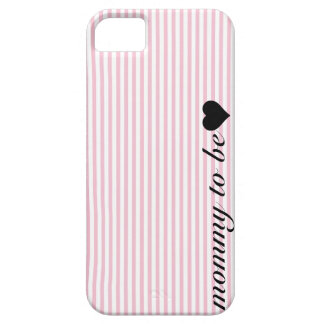 Pink and White Striped Mommy To Be iPhone SE/5/5s Case