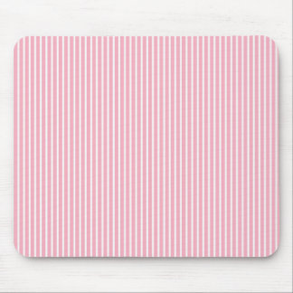 Pink and White Striped Mouse Pad