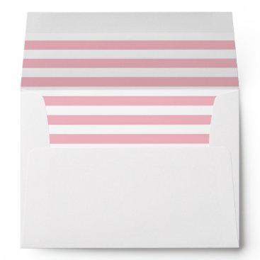 partridgelanestudio Pink and White Striped With Return Address Envelope