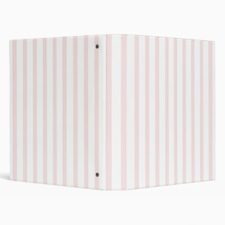 Pink and White Stripes Binder