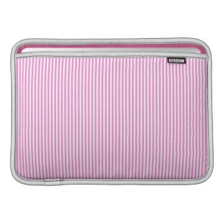 Pink and White Stripes MacBook Air Sleeve