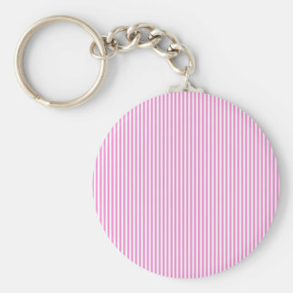 Pink and White Stripes Key Chains