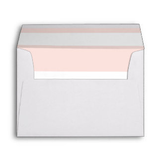 Pink and White Stripes Wedding Envelope