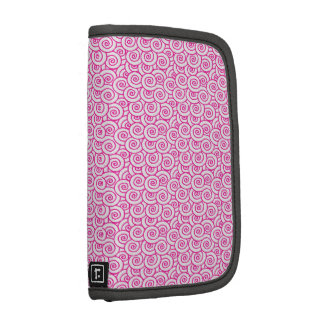 Pink and White Swirls Planners