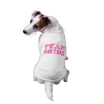 Pink and White Team Bride Wedding Dog T-Shirt