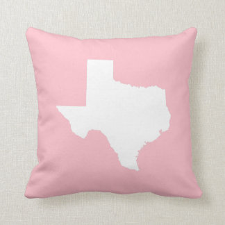 Pink and White Texas Throw Pillow