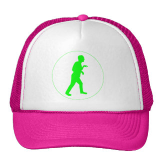 Pink and White Trucker Hat w Green Logo