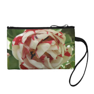 Pink and White Tulip Bagettes Bag Coin Wallet