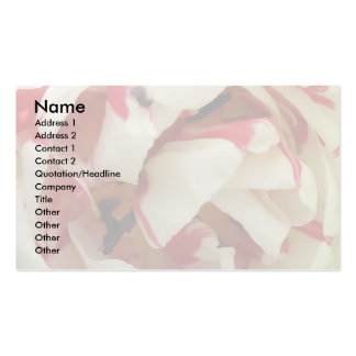 Pink and White Tulip Custom Business Card