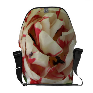 Pink and White Tulip Messenger Bag
