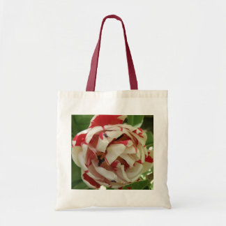 Pink and White Tulip Tote Bag
