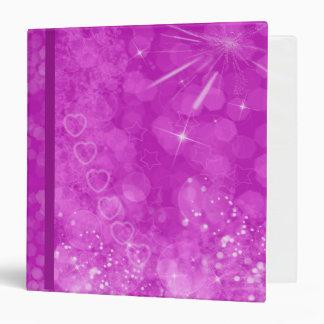 Pink and white Valentine Design Vinyl Binder