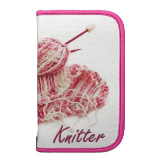 Pink and White Variegated Knitter Folio Planner