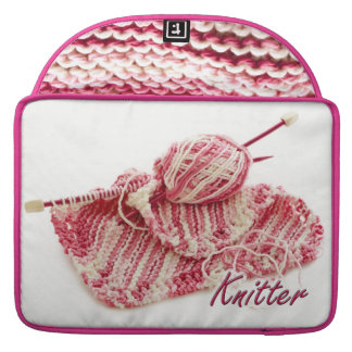 Pink and White Variegated Knitter Sleeve For MacBook Pro