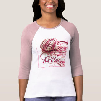 Pink and White Variegated Knitter T-Shirt