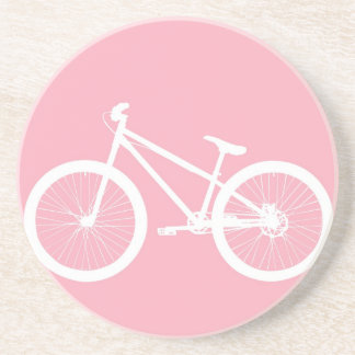 Pink and White Vintage Bicycle Coaster