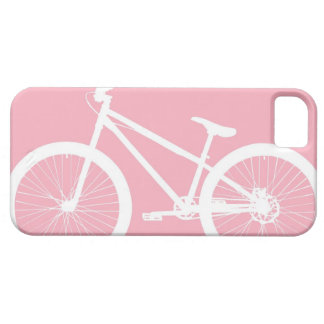 Pink and White Vintage Bicycle iPhone 5s Case iPhone 5 Cover