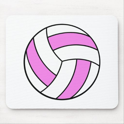 pink and white volleyball mousepads