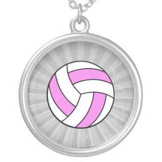 pink and white volleyball custom jewelry