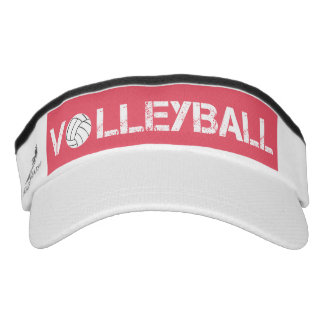 Pink and White Volleyball Sport Sun Visor