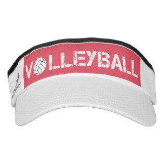 Pink and White Volleyball Sport Sun Visor Headsweats Visor
