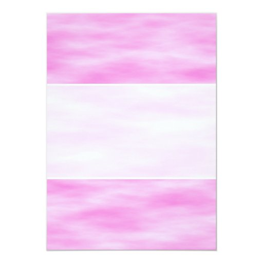 Pink and White Wavy Pattern. 5x7 Paper Invitation Card