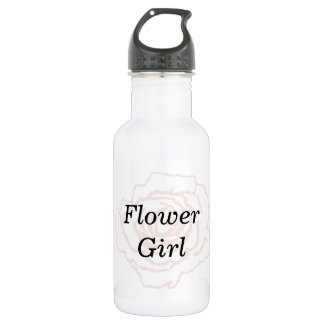 Pink and White Wedding Rose Water Bottle