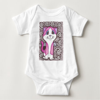 Pink and White Winged Cat T-shirt