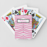 Pink and White Zebra Print Animal Playing Cards